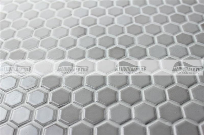 Hex gono branco vitrificado bcz604 azulejo de mosaico for Azulejo vitrificado
