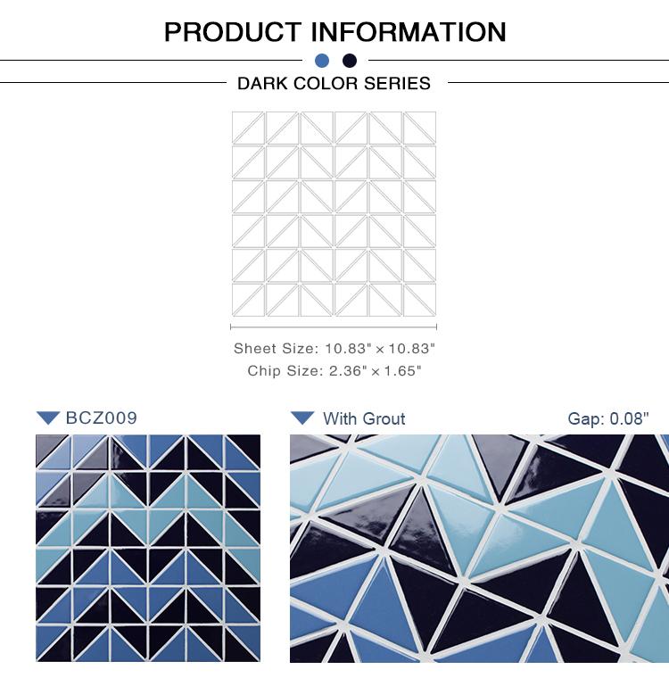 Triangle Bcz009 Triangle Mosaic Triangle Mosaic Tile