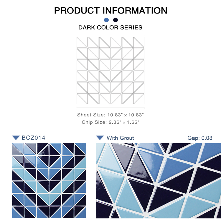 Triangle Bcz014 Triangle Mosaic Triangle Mosaic Tile