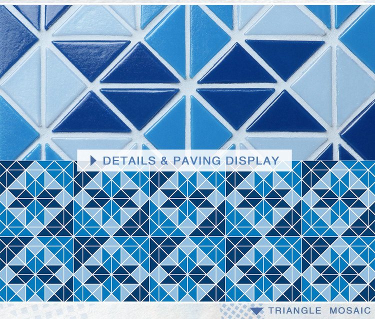 Santorini Blossom Trg Sa Bl Pool Tiles Triangle Tile