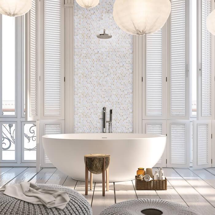 Choosing Mosaic Tile For Rooms That Get Wet Bathroom Wall Tiles