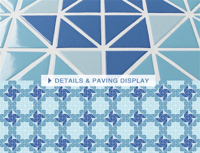 TR SA WH_geometric Pool Tiles Porcelain Triangle Mosaic