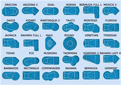 How To Choose A Pool Shape That Best Suits Your House Swimming Pool Shapes Swimming Pool Designs And Plans Swimming Pool Blog Bluwhale Tile