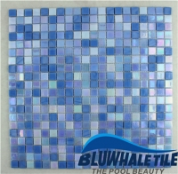 Jade Blue Blend BGC007-Mosaic tile, Glass mosaic, Glass pool tile blue, Buy glass mosaic pool tiles