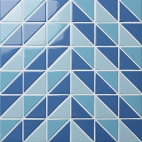 Santorini Pine Tree TR-SA-PT-Triangle mosaic, Triangle mosaic tile, Triangle mosaic pattern, Pool mosaic tiles