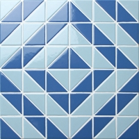Santorini Time Tunnel TR-SA-TT-Triangle mosaic, Triangle mosaic tile, Triangle mosaic pattern, Pool mosaic tiles
