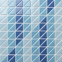 Triangle BCZ018-Triangle mosaic, Triangle mosaic tile, Triangle mosaic pieces, Pool mosaic tiles
