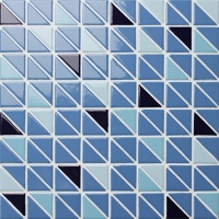 Triangle BCZ019-Triangle mosaic, Triangle mosaic tile, Triangle mosaic pieces, Pool mosaic tiles