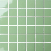 Classic Glossy Green BCK710-Pool tiles, Pool mosaic, Ceramic mosaic, Green ceramic mosaic tiles
