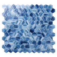Hex BGZ030-Hexagon Mosaic, Hexagon Tile, Swimming Pool Mosaic