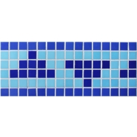 Border Blue Triangle Design BGEB005-Mosiac tiles, Glass mosaic border, Border mosaic patterns