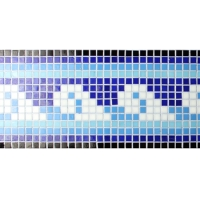 Border Blue Cloud Pattern BGEB002-Mosaic tiles, Glass mosaic border, Blue glass mosaic border tiles