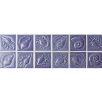 Purple Sea-Shell Pattern BCKB601-Border tile, Ceramic border tile, Waterline tile for swimming pool, Waterline tile mosaic pool