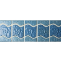 Blue Dolphin Pattern BCZB001-Border tile, Ceramic border tile, Waterline wholesale, Waterline tile porcelain