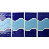 Border Blue Mix BCZB003-Mosaic tile, Ceramic tile border, Tile borders for bathroom, Pool tile border