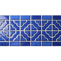 Border Tile Flower Pattern BCZB006-Border tile, Border mosaic tile, Ceramic border tile, Border tile for bathroom