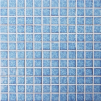 Blossom Blue BCH609-Mosaic tile, Ceramic mosaic, Glazed Swimming pool tile, Crystal pool mosaic tile