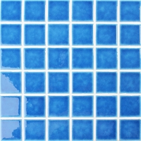 Frozen Blue Crackle BCK663-Pool tile, Pool mosaic, Ceramic mosaic tile, Blue ceramic pool tile