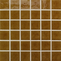 Frozen Crackle Dark Brown BCK901-Pool tile, Pool mosaic, Ceramic mosaic, Crackle Ceramic mosaic