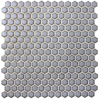 Hexagon Blue BCZ605-Mosaic tile, Pool tiles, Hexagon pool tile, Ceramic mosaic manufacturer