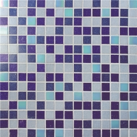 Chromatic Blue Mix BGE012-Pool tiles, Glass mosaic, Glass mosaic on shower floor