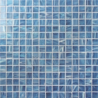 Square Blue BGE601-Pool tile, Pool mosaic, Glass mosaic, Glass mosaic kitchen tile