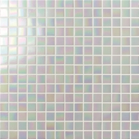 Rainbow Iridescent White BGE901-Mosaic tile, Glass mosaic, White glass mosaic for bathroom, Pool glass mosaic tile