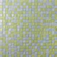 Square Yellow Blended BGC017-Pool tiles, Pool mosaic, Glass mosaic, Glass mosaic sheets