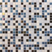 Iridescent Square Blue Mix BGC024-Pool tile, Swimming pool mosaic, Glass mosaic, Glass mosaic tile pool