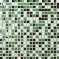 Square Green Mixed BGC025-Pool tile, Swimming pool mosaic, Glass mosaic, Glass mosaic tile green