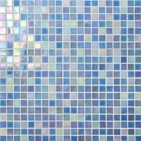 Rainbow Iridescent Blue BGC003-Mosaic tile, Glass mosaic, Glass mosaic wall art, Glass mosaic pool tile