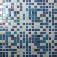 Square Mix Color BGC034-Pool tile, Pool mosaic, Glass mosaic tile, Mix color mosaic tile