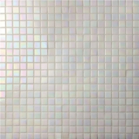 Square White Melting BGC038-Pool tile, Pool mosaic, Glass mosaic, Decorative glass mosaic tile