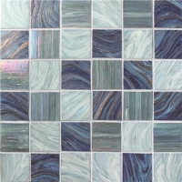 Iridescent Square BGK002-Pool tile, Pool mosaic, Glass mosaic, Glass mosaic shower tile