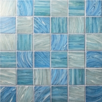 Iridescent Square BGK003-Pool tile, Pool mosaic, Glass mosaic, Glass mosaic tile backsplash