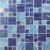 Iridescent Square Mix BGZ002-Pool tiles, Pool mosaic, Glass mosaic, Glass mosaic bathroom tiles