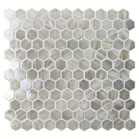 Hexagon White BGZ201-Pool tile, Pool mosaics, Glass mosaic, Hexagon mosaic wall tile
