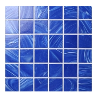 Venus Cloud BGN604-Pool Tile, Glass Mosaic, Blue Glass Tile