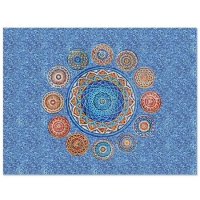 Mandalas KZO040MY-pool tile art, mosaic pool art, swimming pool mosaic art, glass mosaic pool tiles