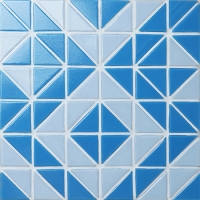 Santorini Wheel TRG-SA-WH-Pool Tile, Triangle Tile, Swimming Pool Tile Blue