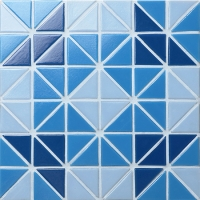 Santorini Wheel TRG-SA-WH1-Pool Tile, Triangle Tile, Swimming Pool Tile Colors