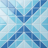 Santorini Square TR-SA-SQ-Triangle mosaic, Triangle mosaic tile, Triangle mosaic pattern, Pool mosaic tiles