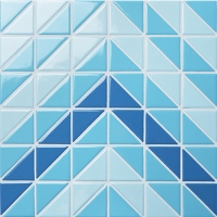 Santorini Chevron TR-SA-CV2-Triangle mosaic, Triangle mosaic tile, Triangle mosaic pieces, Pool mosaic tiles