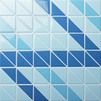 Santorini Ribbon TR-SA-R-Triangle mosaic, Triangle mosaic tile, Triangle mosaic pieces, Pool mosaic tiles