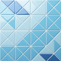 Santorini Blossom TR-SA-TBL2-Triangle mosaic, Triangle mosaic tile, Triangle mosaic pieces, Pool mosaic tiles