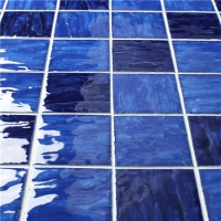 Wave Blue Blend BCP001-Mosaic tile, Ceramic mosaic tiles, Wave swimming pool mosaic tiles, Mosaic tiles from China