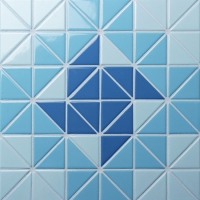 Santorini Wheel TR-SA-WH-Triangle mosaic, Triangle mosaic tile, Triangle mosaic pattern, Pool mosaic tiles