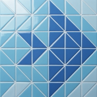 Santorini Fish TR-SA-FI-Triangle mosaic, Triangle mosaic tile, Triangle mosaic pattern, Pool mosaic tiles