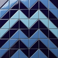 Santorini Chevron TR-SA-CV-Triangle mosaic, Triangle mosaic tile, Triangle mosaic pattern, Pool mosaic tiles
