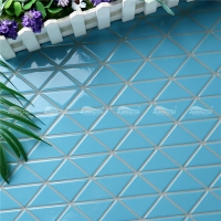 Pure Color TR-SA-P2Z-mosaic triangles, blue pool tiles for sale, pool tile stores